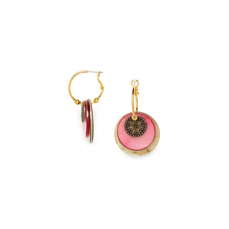 creole pink and gold capiz Scarlett