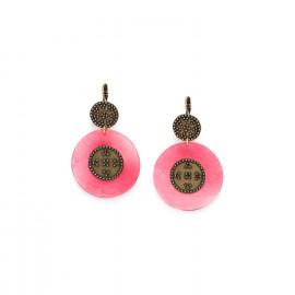 boucles d'oreilles dormeuses grand modèle roses Scarlett - Franck Herval