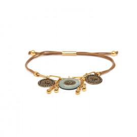 bracelet macramé multipampilles bleu Scarlett - Franck Herval