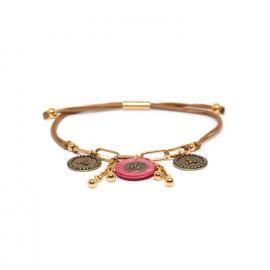 bracelet macramé multipampilles rose Scarlett - Franck Herval