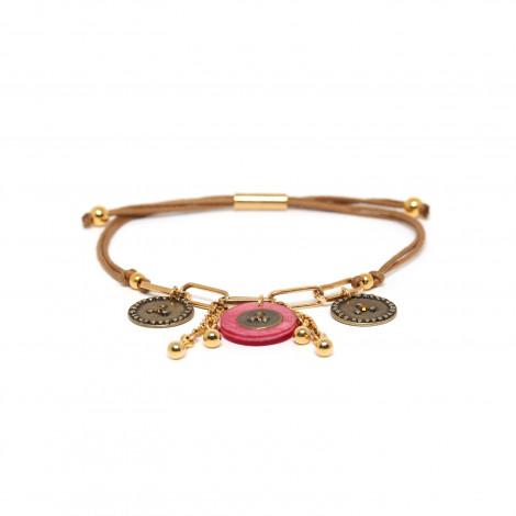 tube lock bracelet pink Scarlett