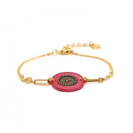 bracelet fermoir mousqueton rose Scarlett - Franck Herval