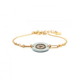 bracelet fermoir mousqueton bleu Scarlett - Franck Herval