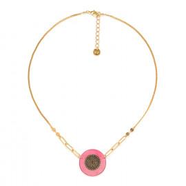 short disc necklace pink Scarlett - Franck Herval