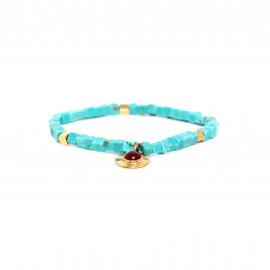 bracelet extensible cubes turquoise Sora - Franck Herval