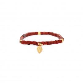 bracelet extensible cubes jaspe rouge Sora - Franck Herval