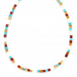 short necklace multicolor cubes Sora - Franck Herval