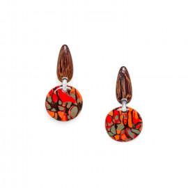 boucles d'oreilles clips rondes Amazonia - Nature Bijoux
