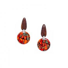 boucles d'oreilles rondes Amazonia - Nature Bijoux