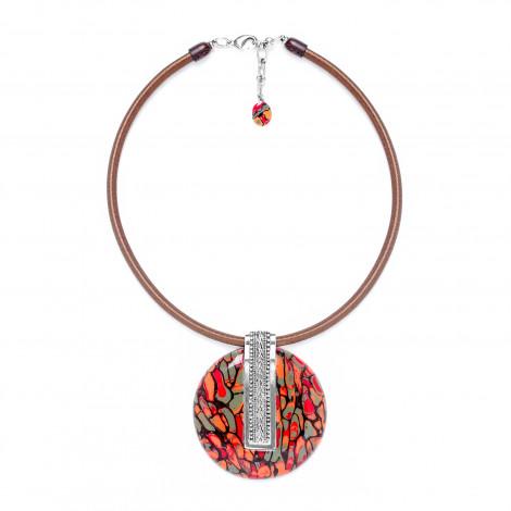 round pendant necklace Amazonia