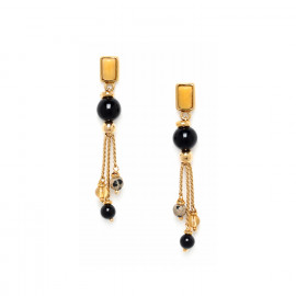 boucles d'oreilles 3 chaines Bengali - Nature Bijoux