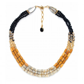 3 row necklace Bengali - Nature Bijoux
