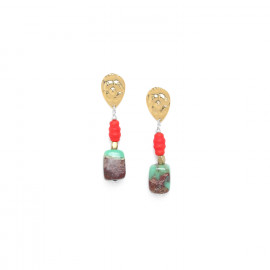 boucles d'oreilles chrysoprase Djimini - Nature Bijoux