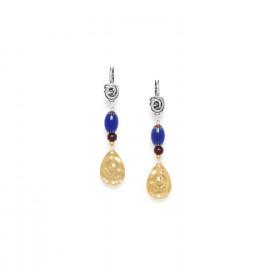 gold drop earrings Djimini - Nature Bijoux