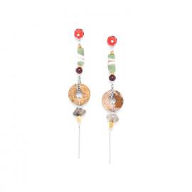 boucles d'oreilles anneau de jaspe Djimini - Nature Bijoux