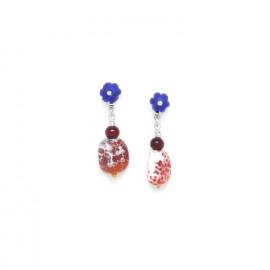 boucles d'oreilles agate brulée Djimini - Nature Bijoux