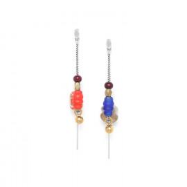 boucles d'oreilles asymétriques Djimini - Nature Bijoux