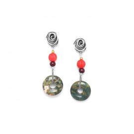 boucles d'oreilles anneau rhyolite Djimini - Nature Bijoux
