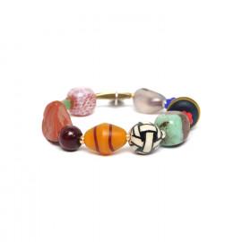bracelet extensible grosses perles Djimini - Nature Bijoux
