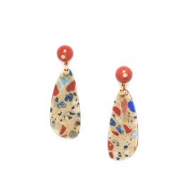 boucles d'oreilles top jaspe Gaudi - Nature Bijoux