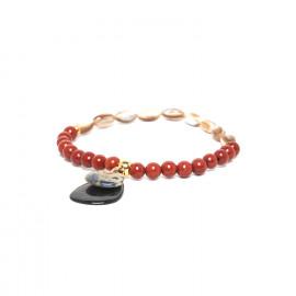 bracelet extensible jaspe & nacre Gaudi - Nature Bijoux