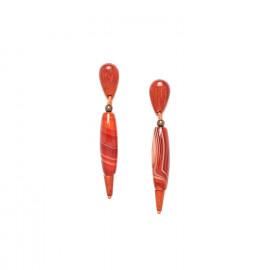 boucles d'oreilles agate rouge et sibucao Impala - Nature Bijoux