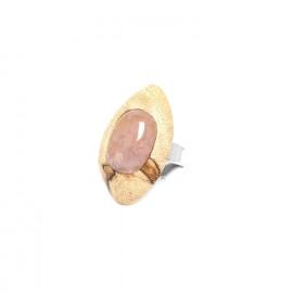 ring tamarind and pink quartz Impala - Nature Bijoux