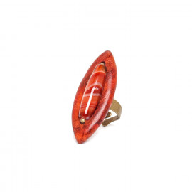 ring red agate and sibucao Impala - Nature Bijoux