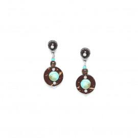 petites boucles d'oreilles top quartz fumé Maracaibo - Nature Bijoux