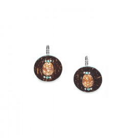small earrings coconut and shell Maracaibo - Nature Bijoux