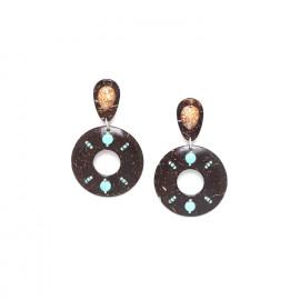 boucles d'oreilles noix de coco et coquillage Maracaibo - Nature Bijoux