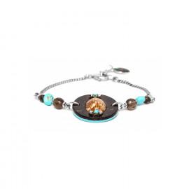 bracelet shell coconut and smocky quartz beads Maracaibo - Nature Bijoux