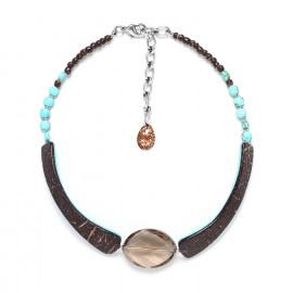 petit collier quartz fumé Maracaibo - Nature Bijoux