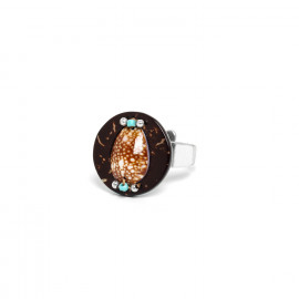 round ring coconut and shell Maracaibo - Nature Bijoux
