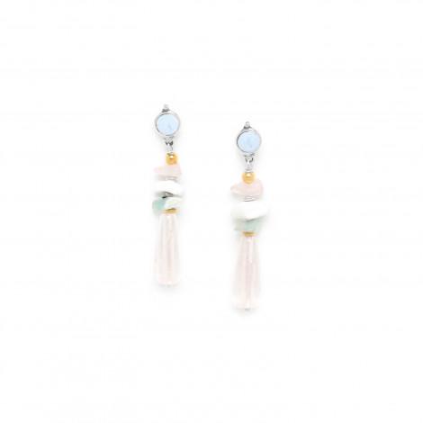 drop earrings rock crystal Rock & pearl