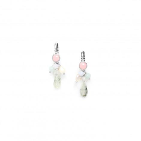drop earrings rutilite with dangles Rock & pearl
