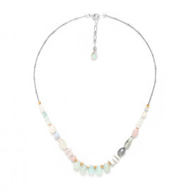 small necklace amazonite Rock & pearl - Nature Bijoux