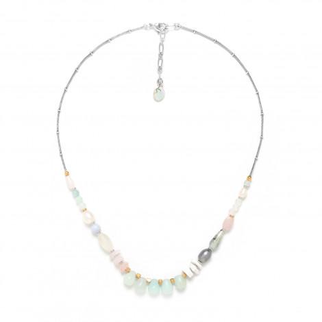 small necklace amazonite Rock & pearl