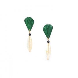 citrine clip earrings Wild leaves - Nature Bijoux