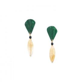 boucles d'oreilles citrine Wild leaves - Nature Bijoux