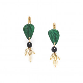grape earrings Wild leaves - Nature Bijoux