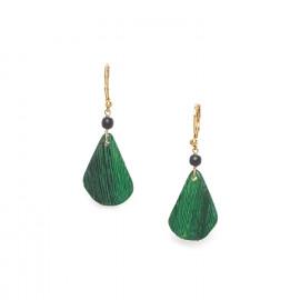 boucles d'oreilles crochet anneau Wild leaves - Nature Bijoux