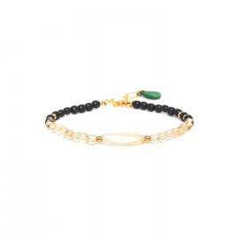bracelet citrine & corne noire Wild leaves - Nature Bijoux
