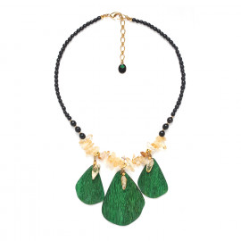 3 leaves necklace Wild leaves - Nature Bijoux
