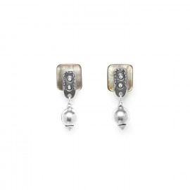metal bead post earrings El gaucho - Ori Tao