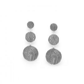 boucles d'oreilles poussoir 3 disques Infinity - Ori Tao