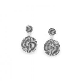 boucles d'oreilles poussoir 2 disques Infinity - Ori Tao