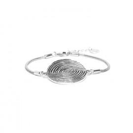 bracelet un disque fermoir mousqueton Infinity - Ori Tao