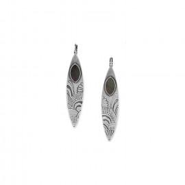 boucles d'oreilles dormeuses longues Mandala - Ori Tao