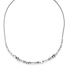 collier plastron Silver beads - Ori Tao